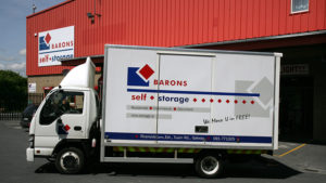 Barons Self Storage truck